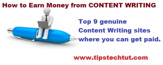 Content Writing 2016-Earn Money From Top 9 Real Websites