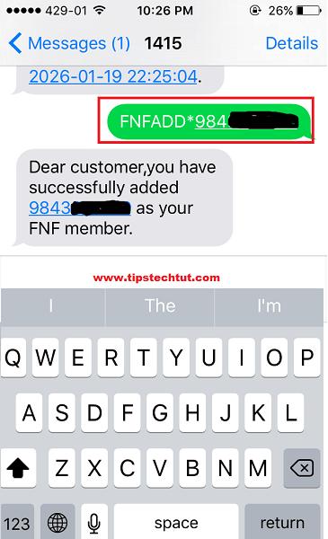 Nepal Telecom friends and family call service